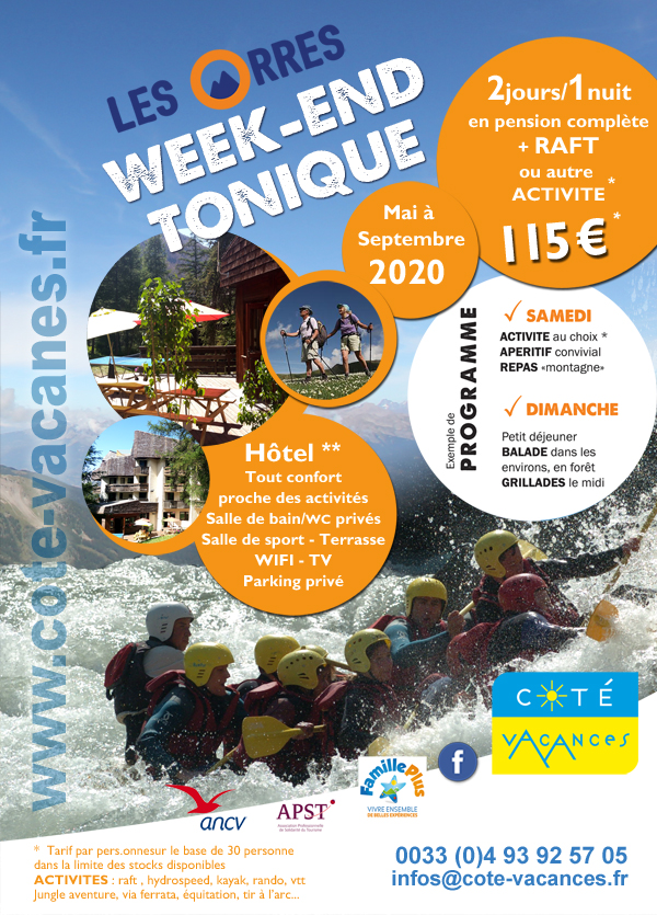 Week-end tonique - Les Orres - Eté 2020